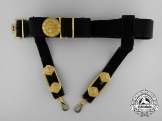 A Royal Yugoslavian Naval Officer's Dress Belt With Buckle