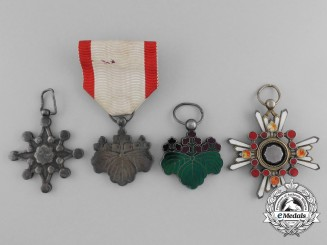 A Lot of Four Second War Era Japanese Orders and Awards