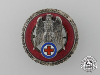 A Slovakian Red Cross Five Years' Exemplary Service Badge; Silver Grade