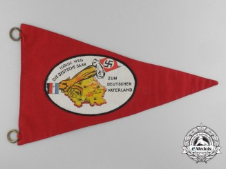 "A ""Hands Off The German Saarland"" Pennant"