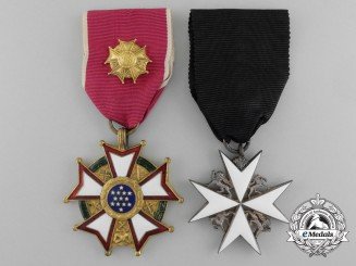 A St.John & American Legion of Merit Pair to RCAF Air Commodore James Tice