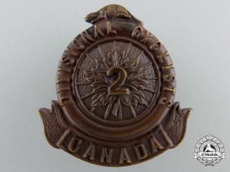 A First War Canadian 2nd Divisional Cyclist Company Cap Badge