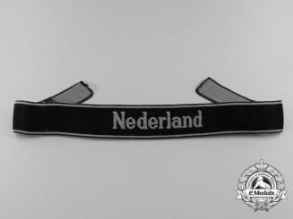 "A Scarce BeVo EM/NCO's ""Nederland"" Cufftitle"