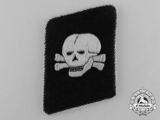 A Mint SS Totenkopf Officer's Collar Tab; RZM Tagged