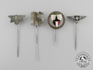 A Lot of Four German Second War Stick Pins