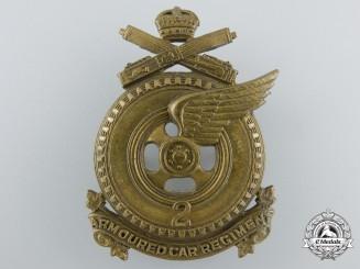 A Second War Canadian 2nd Armoured Car Regiment Cap Badge