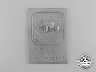 A 1938 Panzer Abwehr Abteilung 41 Herbstfahrt Event Plaque