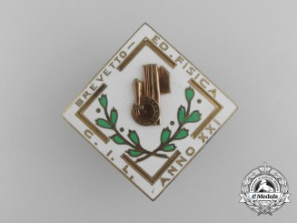 An Italian Youth of the Lictor Physical Education Twenty-First Year Badge