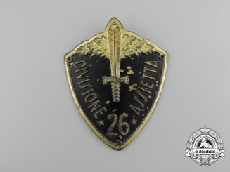 An Italian 26th Mountain Infantry Division Assietta Badge