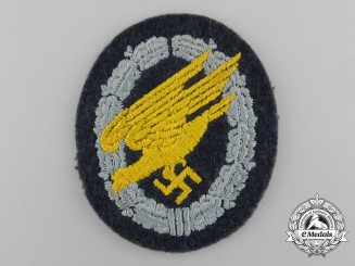 A Mint Luftwaffe Fallschirmjäger Badge; Cloth Version