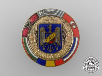 A 1937 Balkan Athletic Games Badge
