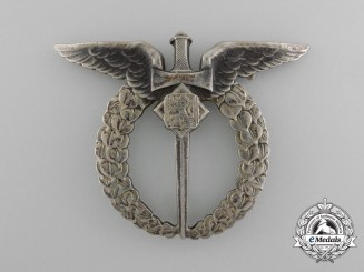 Czechoslovakia. An Observer's Badge in Silver, c.1935
