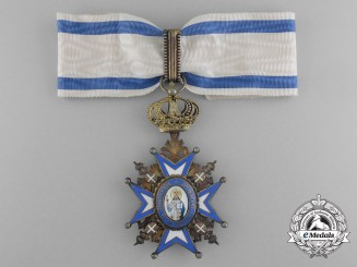 Serbia, Kingdom. An Order of St. Sava, Commander, by Sorlini, Varaždin
