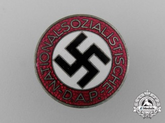 A NSDAP Party Member Lapel Badge by Gustav Brehmer
