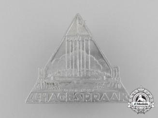 A 1939 Dutch NSB Hagespraak Meeting Badge