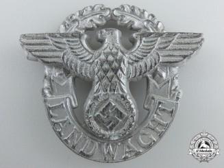 """A """"Landwacht"""" Auxiliary Police Visor Cap Eagle"""