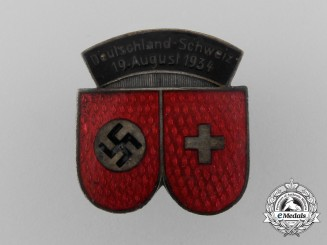 A 1934 German-Swiss Bund Membership Badge by Deschler