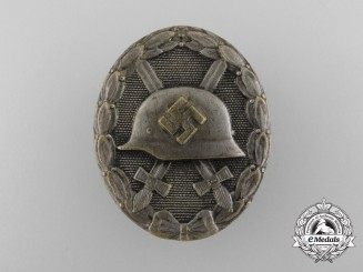 A Second War German Wound Badge; Silver Grade in Tombac