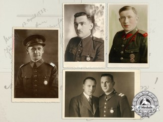 Four 1930's Period Czechoslovakian Officer's Photos