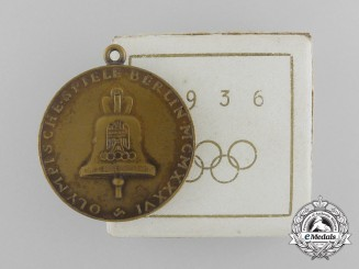 A 1936 XI Berlin Summer Olympic Games Medal with Case