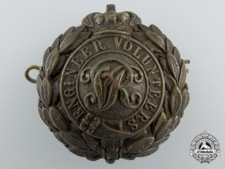 A Victorian Period Engineer Volunteers Cap Badge