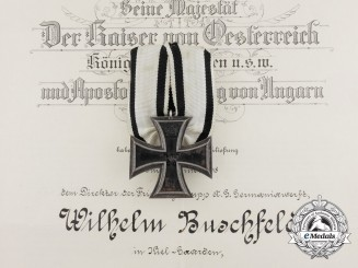 A Non-Combatant Iron Cross  with Award Documents to German Industrialist