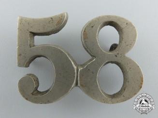 A Fenian Raid Period 58th Compton Battalion of Infantry Cap Badge