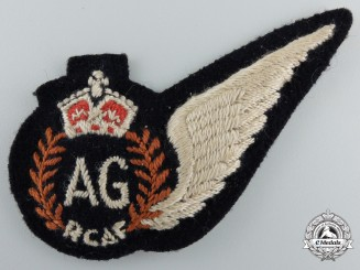 Canada. A Royal Canadian Air Force (RCAF) Air Gunner (AG) Wing