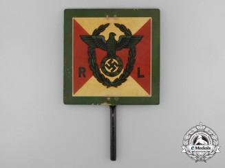 A Rare NSDAP Reichsleiter's Metal Vehicle Pennant