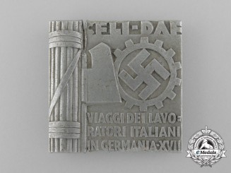 An Italian-German DAF/Workers Commemorative Badge