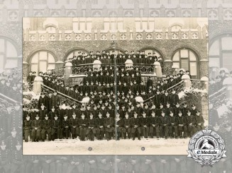 A Large Class Photograph of Kriegsmarine Academy Mürwik