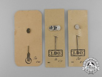 A Set of Second War German Miniature Stickpins