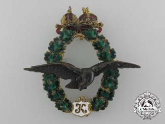 An Austrian Imperial Army Field Pilot's Badge, by J. Zimbler