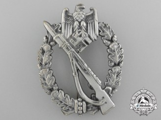 Germany, Wehrmacht.  An Early Infantry Badge in Tombak, Silver Grade