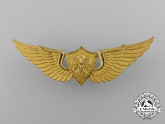 A Gold Japanese Ground Self Defense Force Pilot's Wings