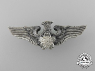 A Silver Japanese Air Self Defense Force pilot's Badge
