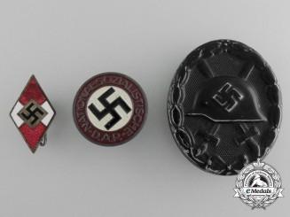 Three Second War German Badges