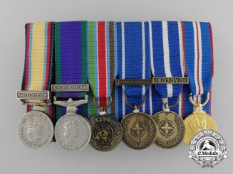 A Gulf War British Miniature Medal Bar
