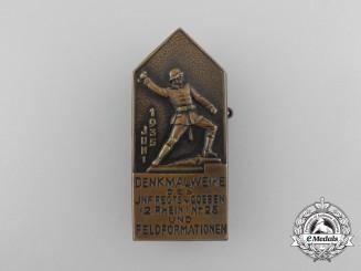 A 1935 Monument Inauguration of Goeben Badge