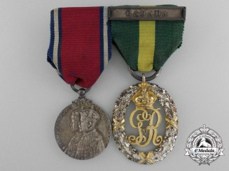 A King George V Era Efficiency Decoration Pair to Major (Paymaster) E. Scott Griffin