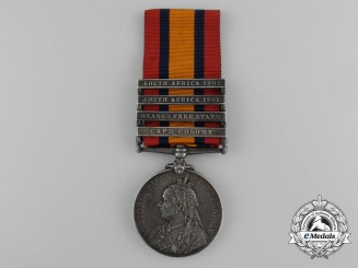 A Queen's South Africa Medal to Trooper Winfield; South African Constabulary
