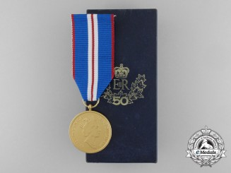 A Canadian Queen Elizabeth II Golden Jubilee Medal 2002 with Box
