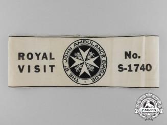 A Rare Canadian St. John Ambulance Brigade Royal Visit Armband