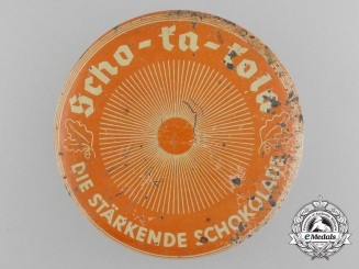 "A Wehrmacht Ration Tin of ""Scho-Ka-Kola"" Caffeine-Infused Stimulating Chocolate"