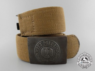 A 1940 Deutsches Tropical Belt with Buckle by Matthias Salcher & Sohne