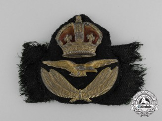 A 1918 Issued Royal Air Force (RAF) Officer's Cap Badge Below Air Rank