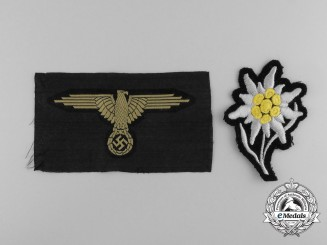 Two Second War German SS Cloth Insignia