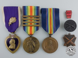 "A First War American Purple Heart Group to the 28th ""Keystone"" Division AEF"