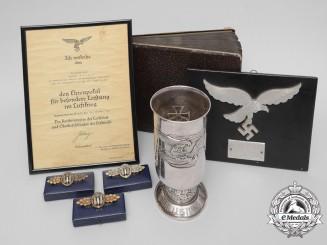 A Fine Honour Goblet Luftwaffe Group to Unteroffizier Lassow; Kampfgruppe 806