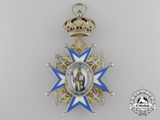 A Serbian Order of St. Sava; Grand Cross Sash Badge  (1921-1941)